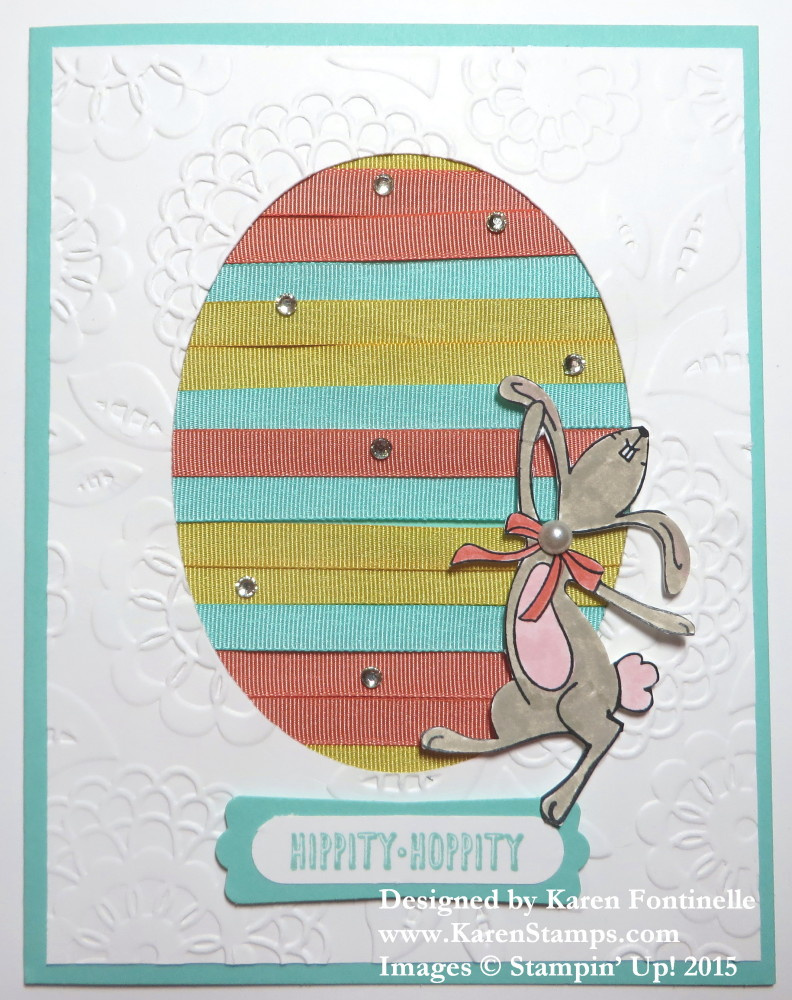 Ribbon Easter Egg Card