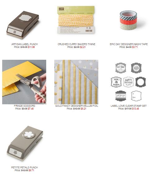 Stampin' Up! Weekly Deal Mar 24 2015