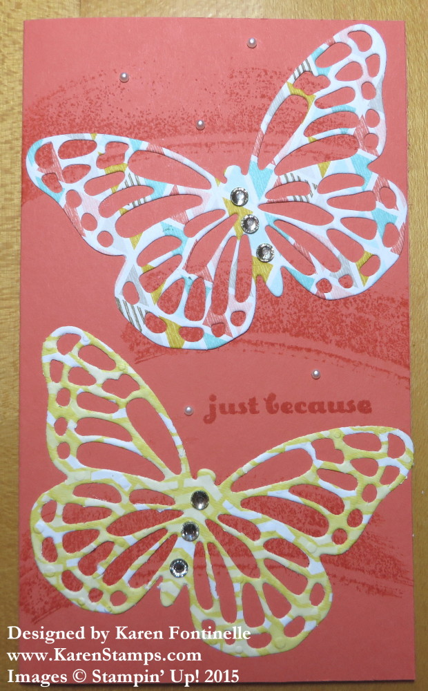 Butterflies Thinlits Just Because Card