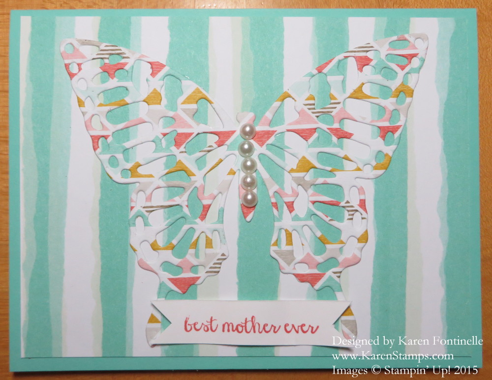 Butterfly Thinlit Mother's Day Card