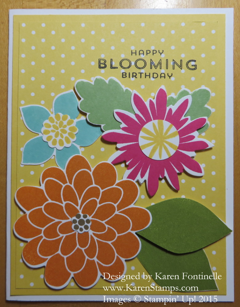 Flower Patch Spring Birthday Card