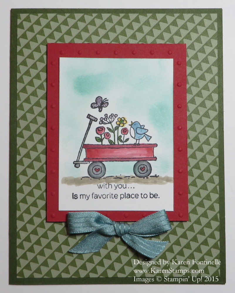 For The Birds Little Red Wagon Card