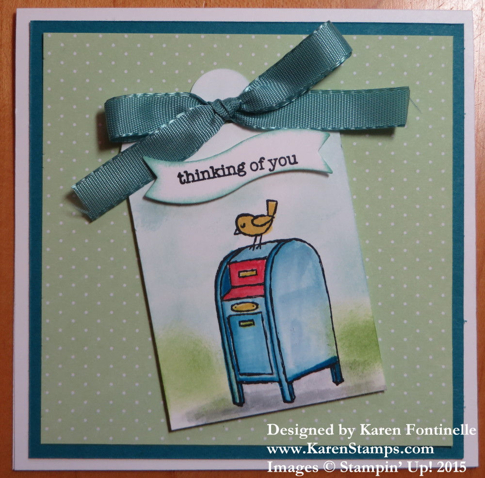 For The Birds Mailbox Thinking of You Card