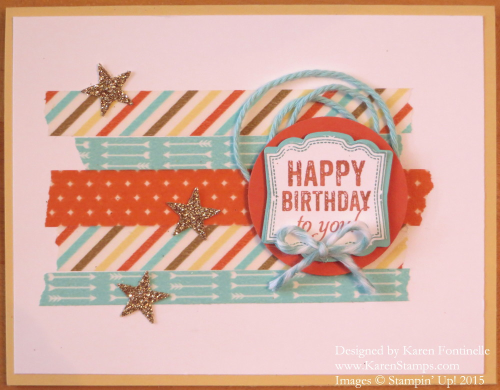 Label Love Happy Birthday Card
