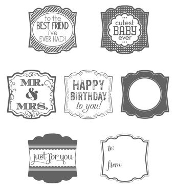Label Love Stamp Set