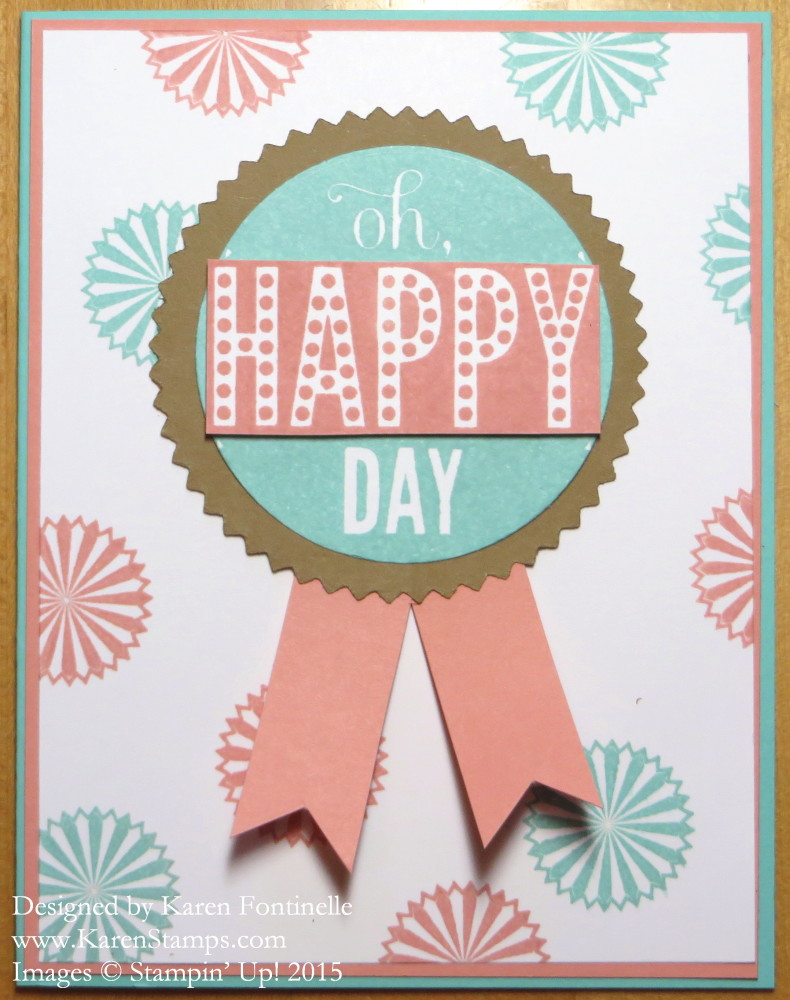 Starburst Sayings Happy Day Card