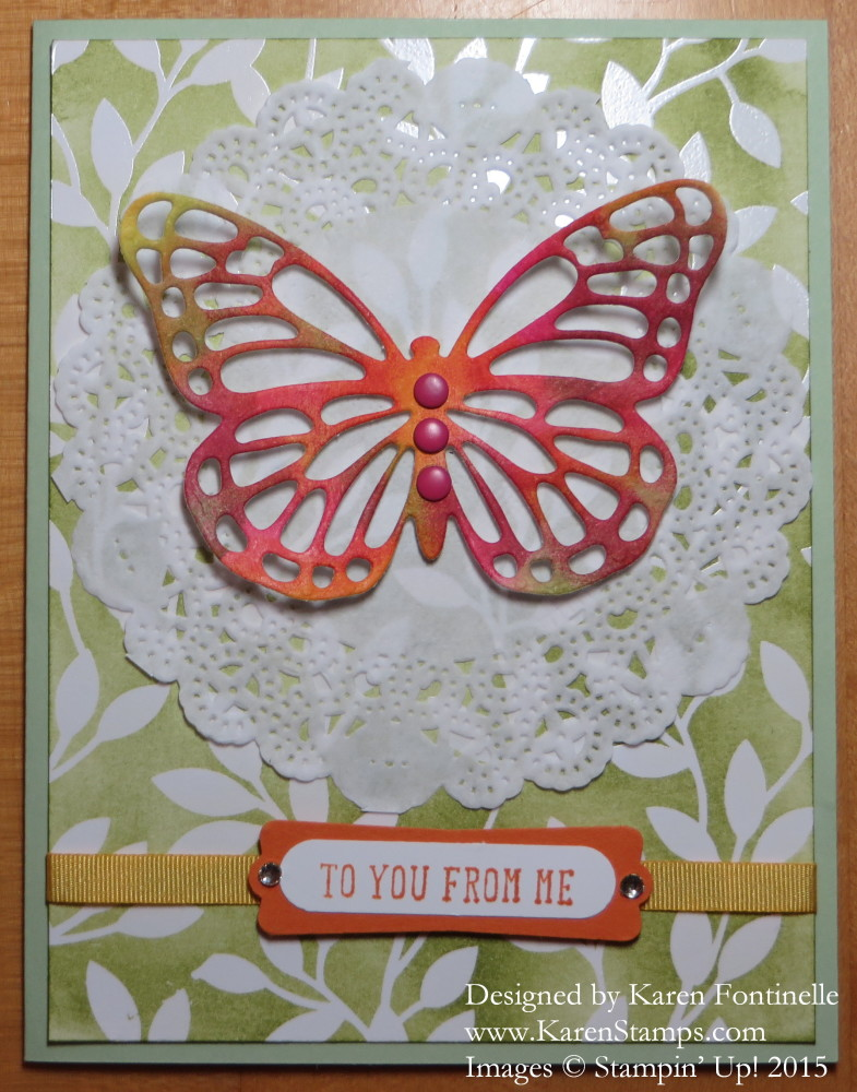 Thinlits Multicolor Butterfly Card