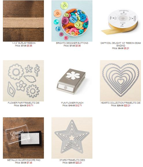 Stampin' Up! Weekly Deals April 7 2015
