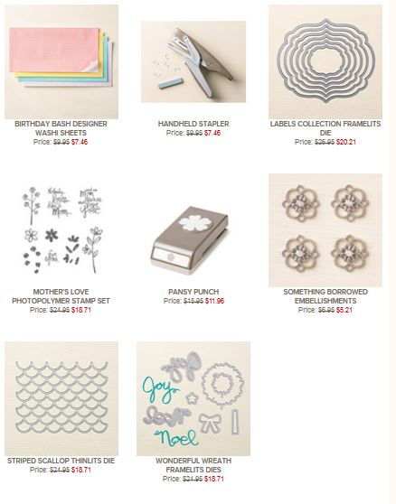 Stampin' Up! Weekly Deals April 14, 2015