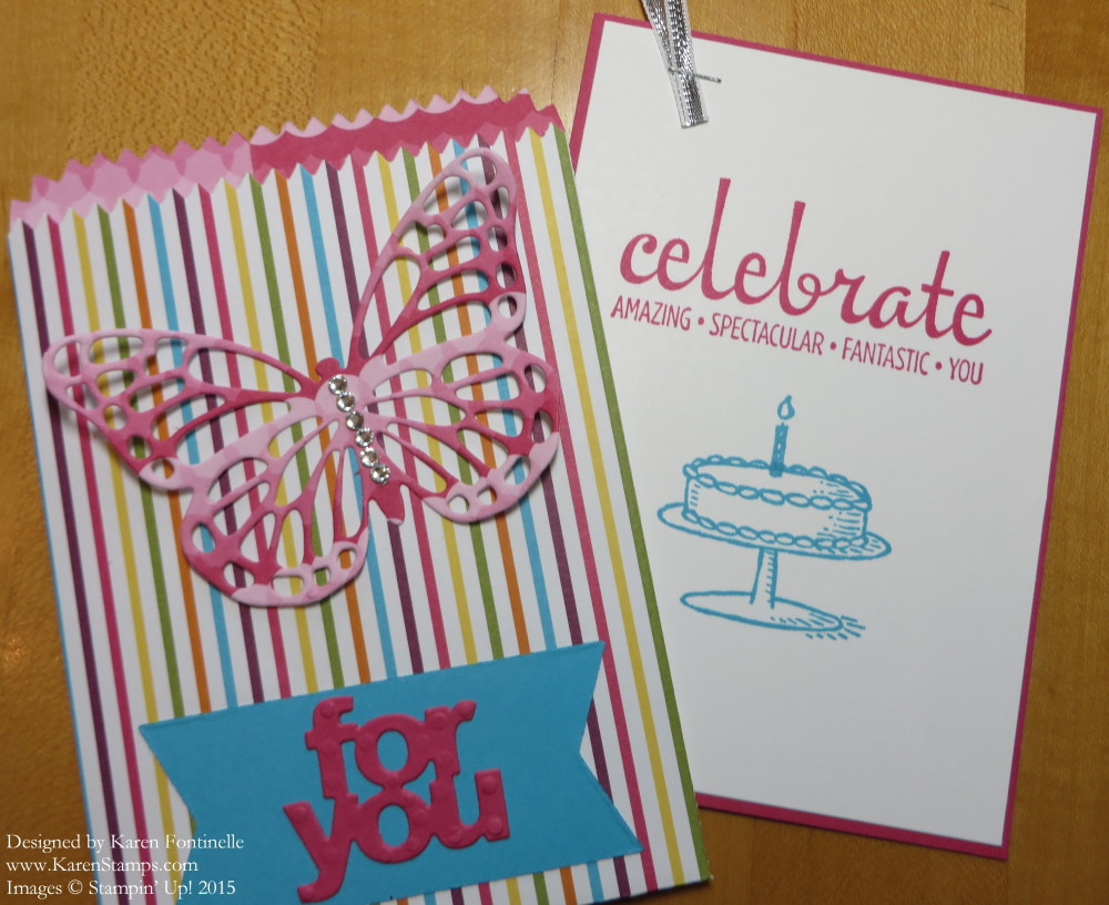Butterfly Mini Treat Bag Birthday Card For You