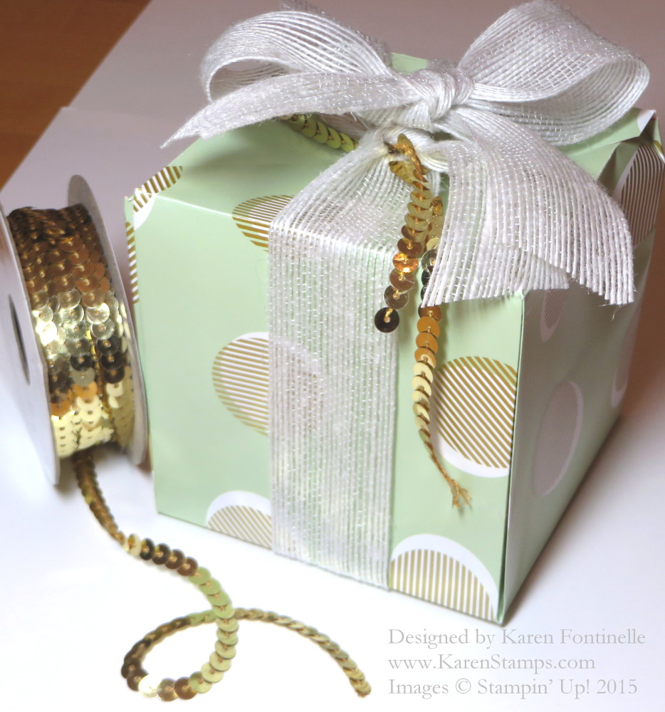 Gold Soiree Punch Board Gift Box