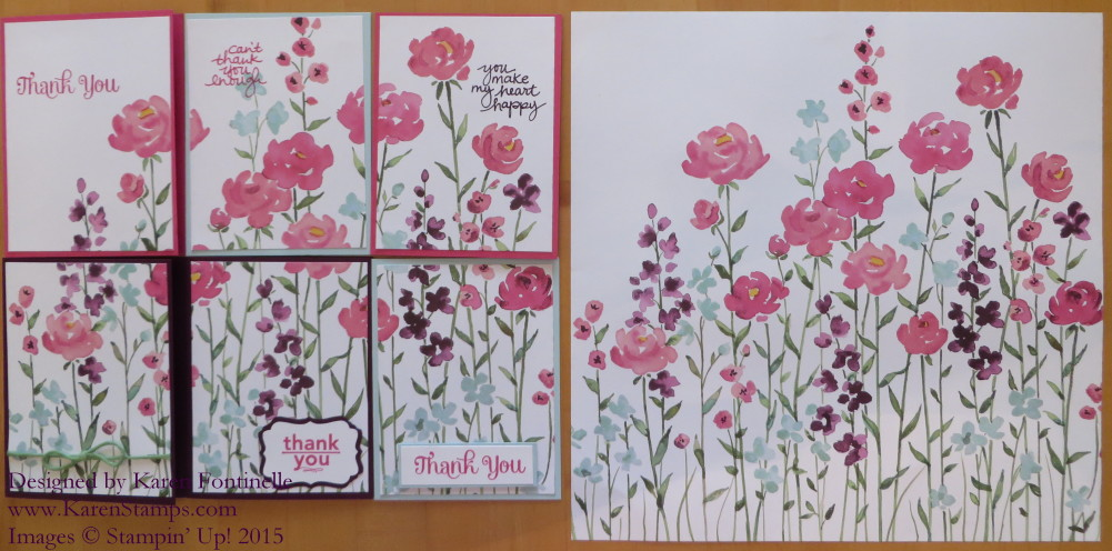 Painted Blooms Cards and Paper