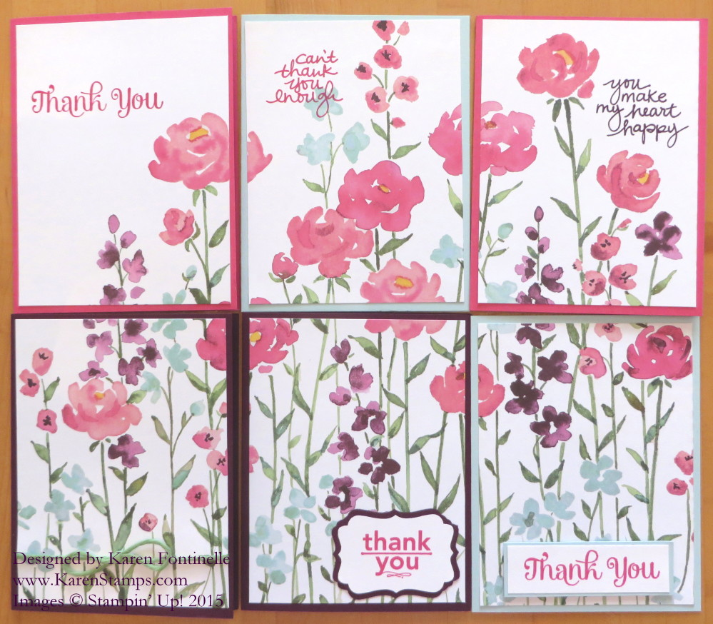 Painted Blooms Cards