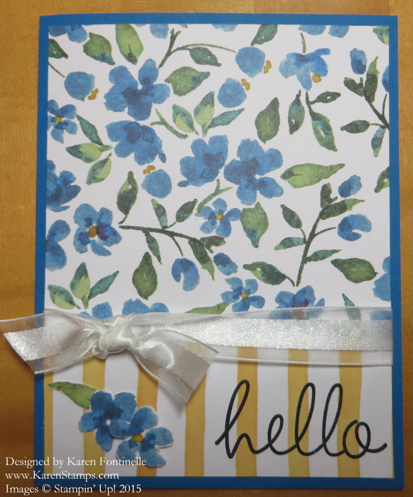Painted Blooms Hello Card