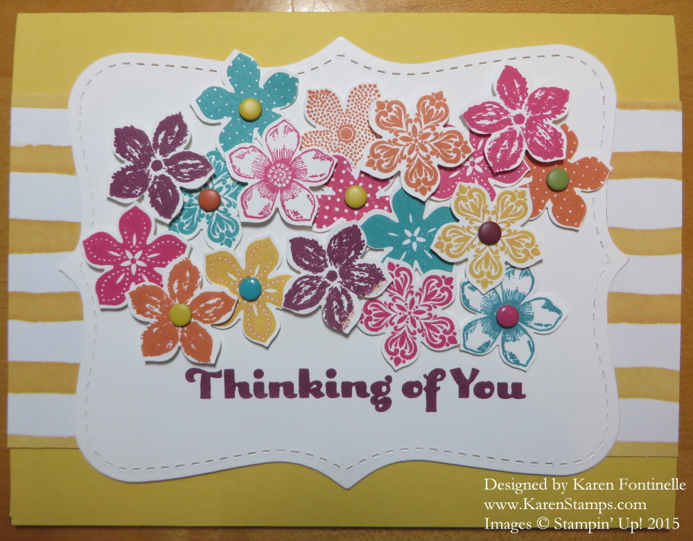 Petite Petals Top Note Thinking of You Card