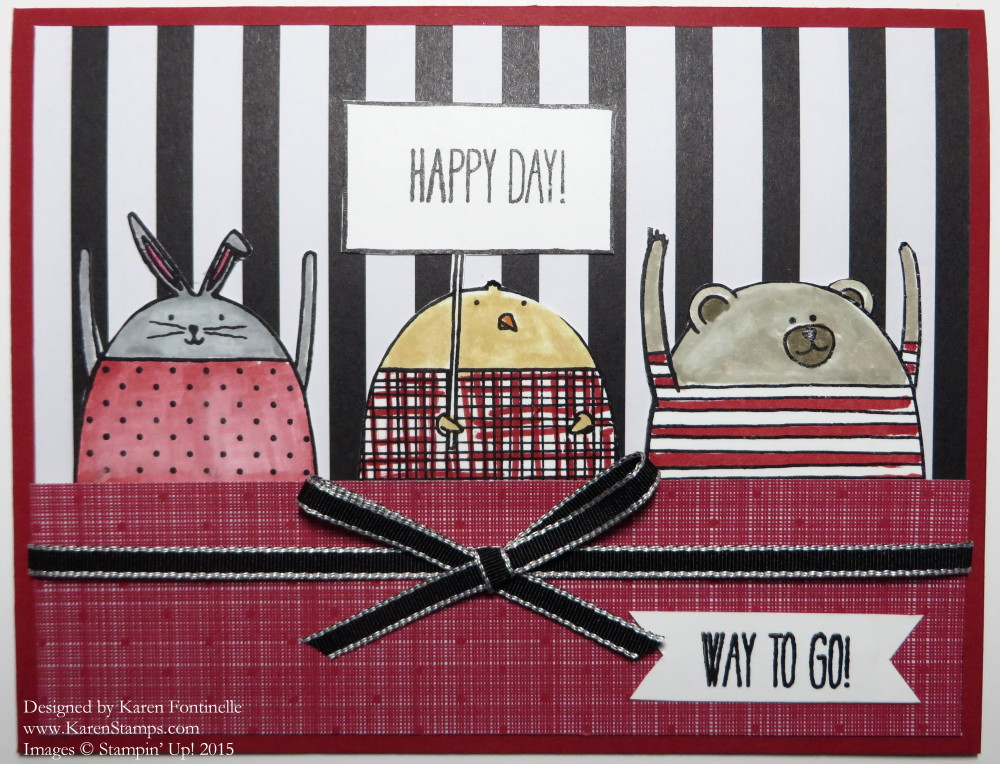 Stacked With Love Cheerful Critters Congratulations Card