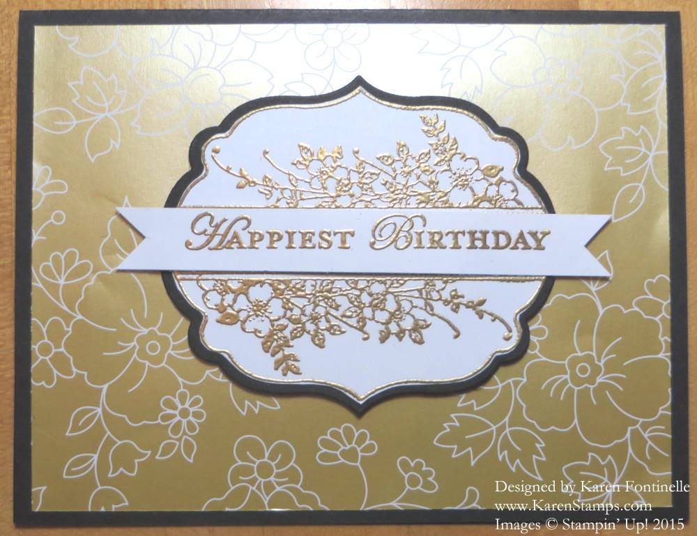 Apothecary Art Gold Soiree Birthday Card