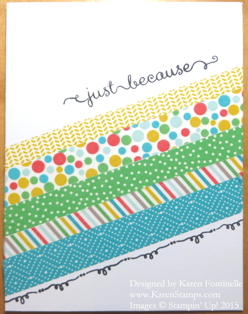 Cherry on Top Washi Tape Easy Card
