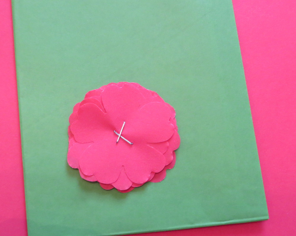 Cotton Paper Stapled Flowers