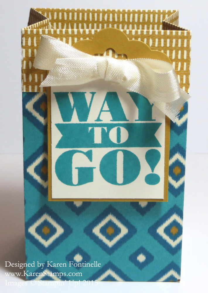 Gift Bag Punch Board Bohemian Gift Bag