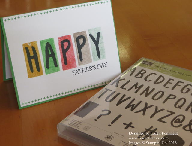 Layered Letters Father's Day Card