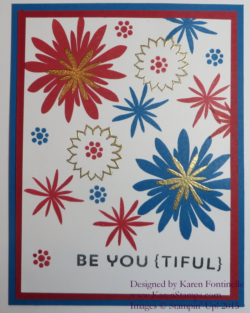 Flower Patch 4th of July Fireworks Card
