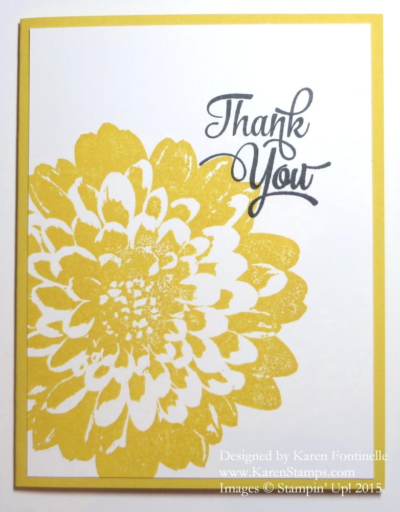 Definitely Dahlia Thank You Card