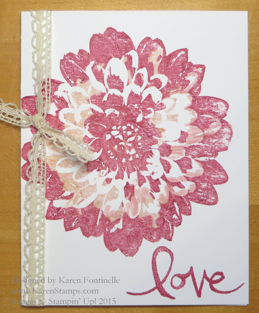 Pink Marker Colored Dahlia Card