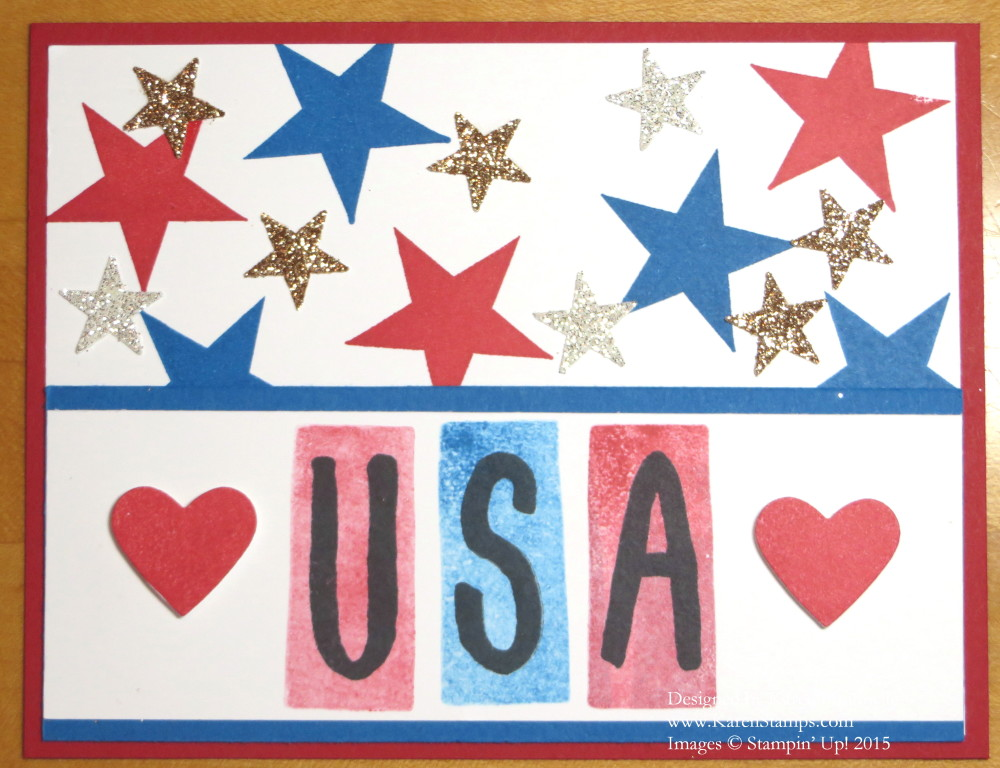 USA Birthday 4th of July Card