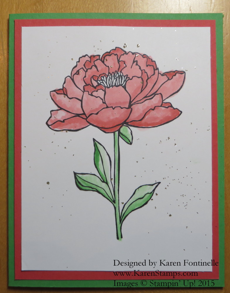 You've Got This Flower Card with Glitter