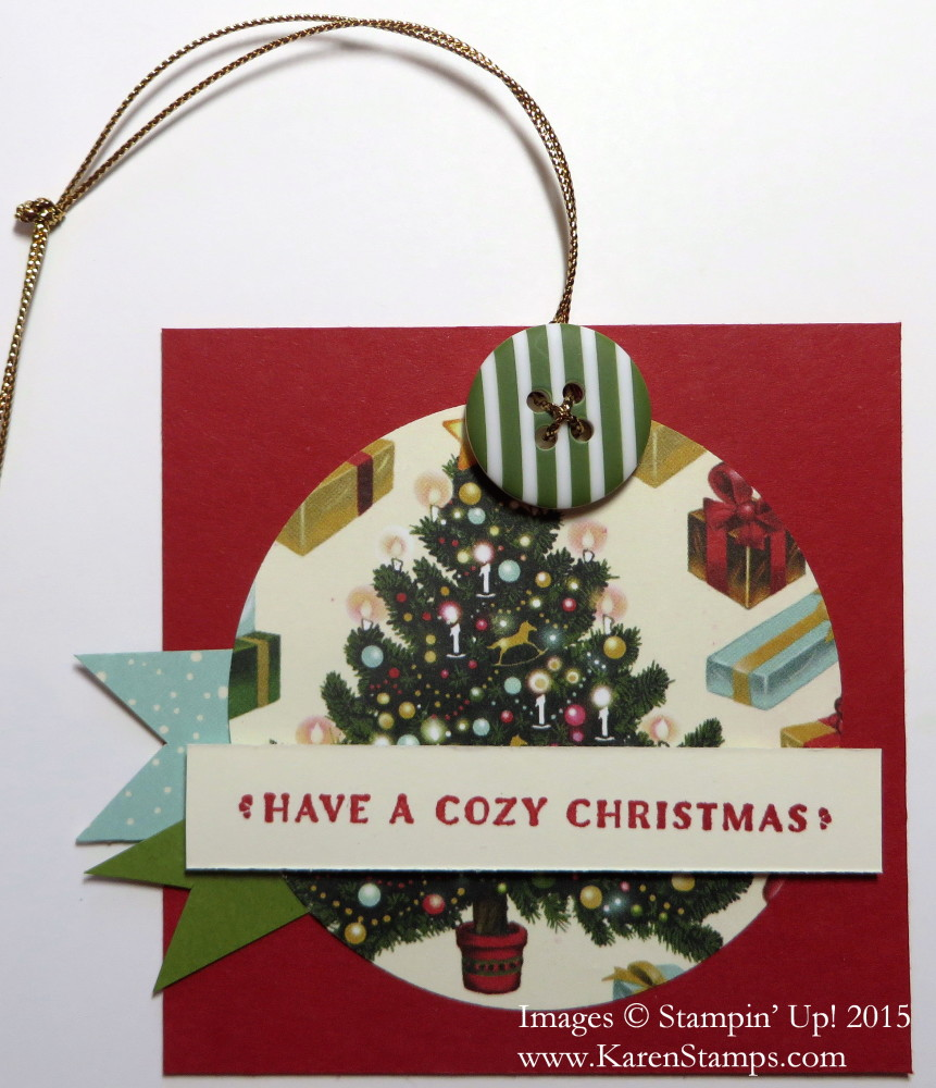 Cozy Christmas Tag