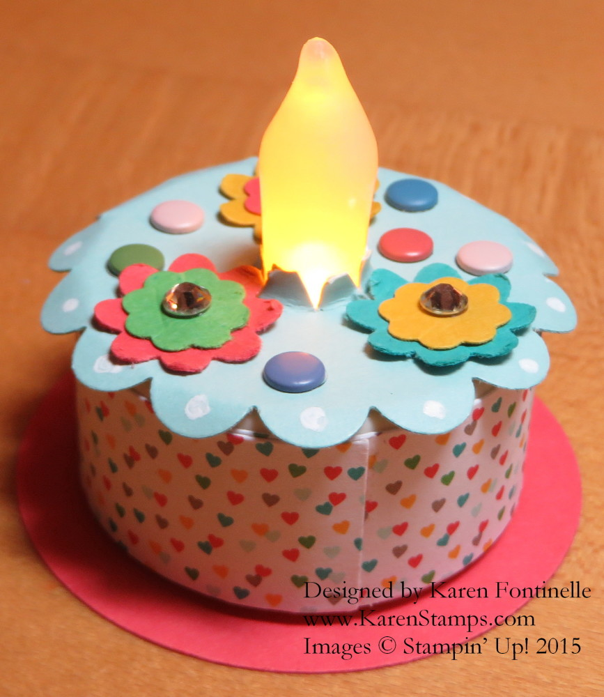 Tea Light Birthday Cake Lit