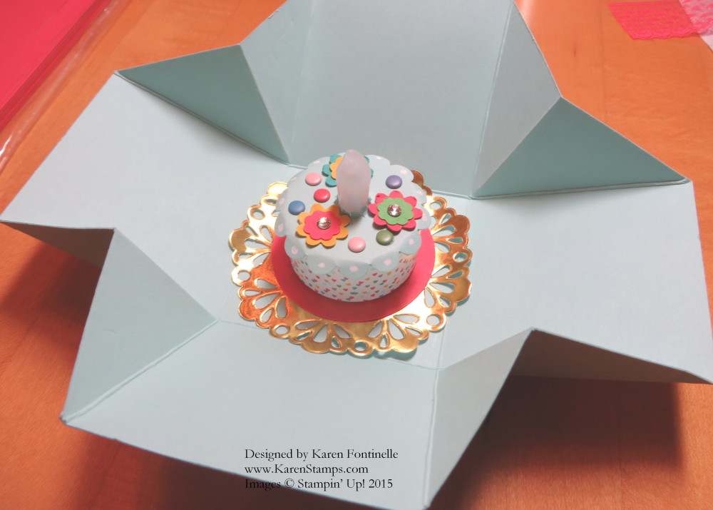 Tea Light Birthday Cake and Box
