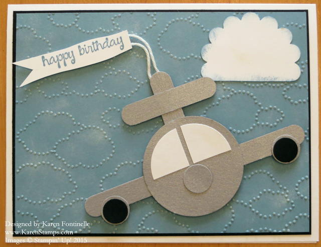 Airplane Punch Art Birthday Card