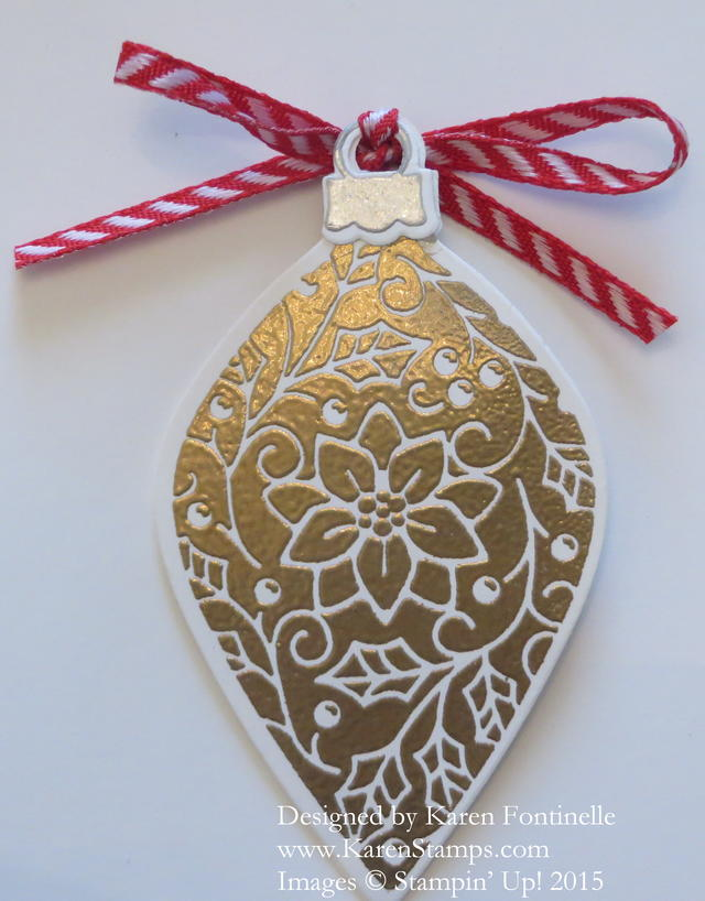 Embellished Ornaments Frame back