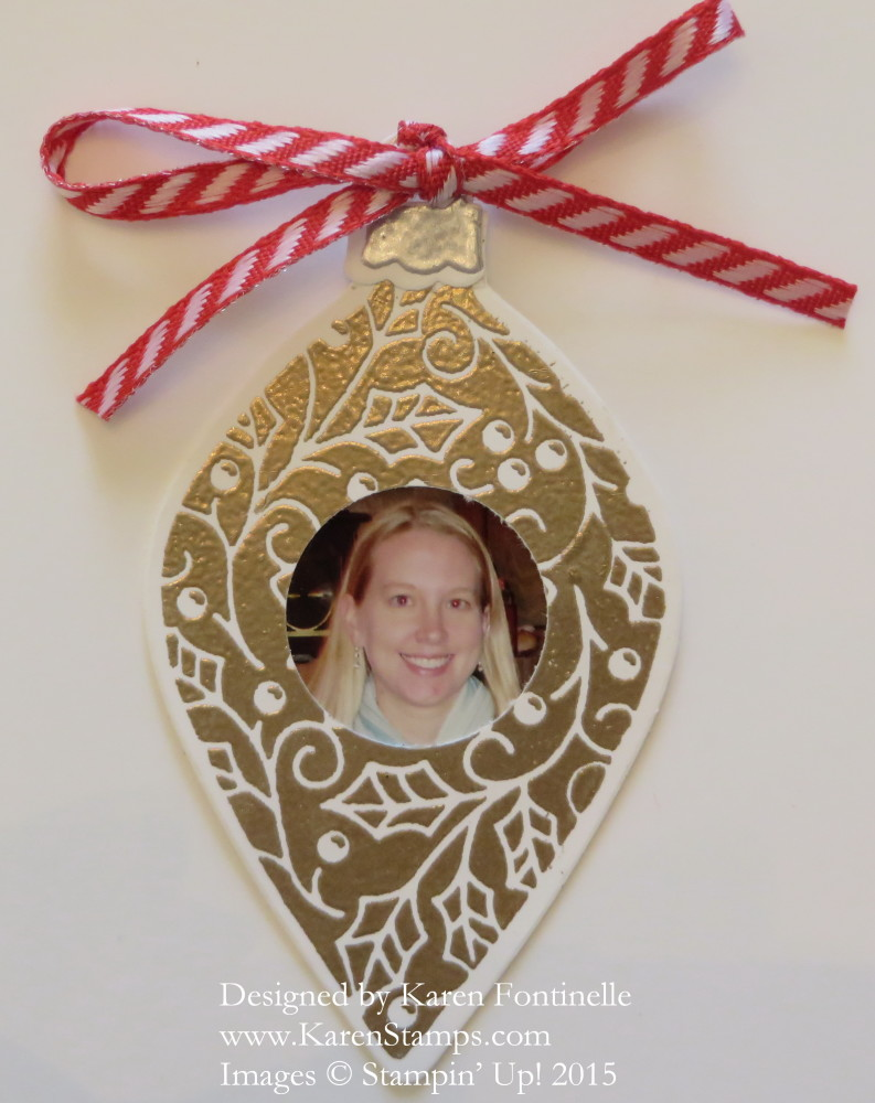 Embellished Ornaments Picture Frame Ornament | Stamping With Karen