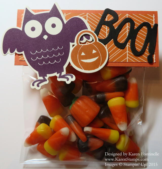 Howl-O-Ween Candy Treat Bag Topper