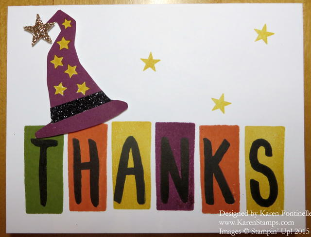 Layered Letters Thanks Halloween Card