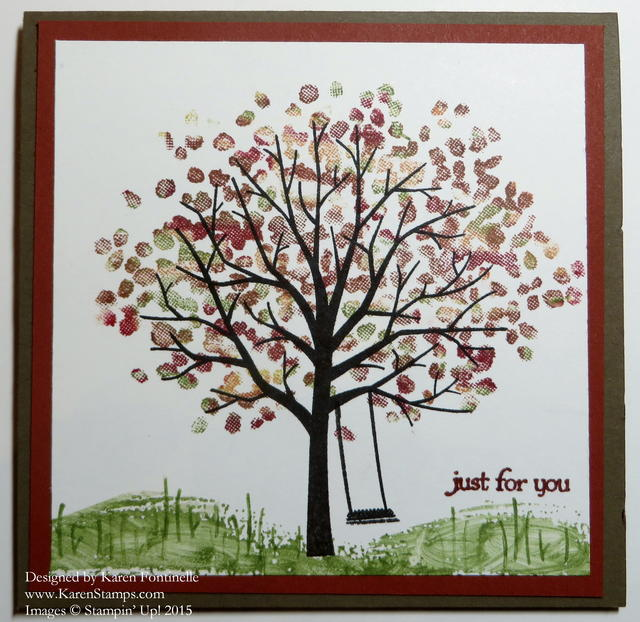 Sheltering Tree First Day of Fall Card