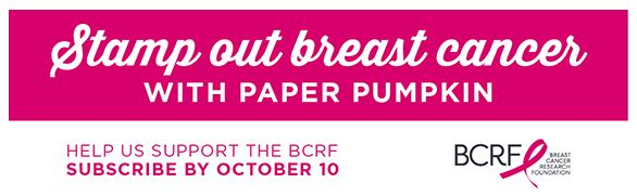 Stamp Out Breast Cancer with Paper Pumpkin