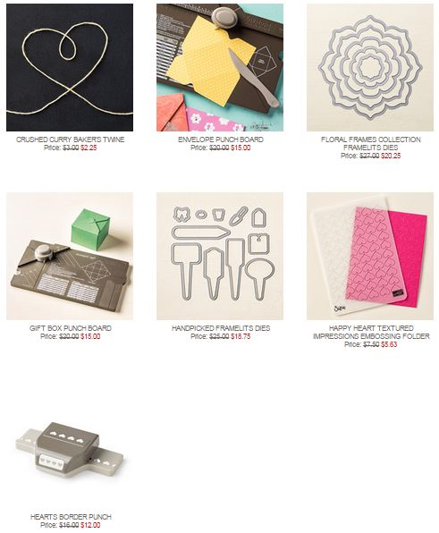 Stampin' Up! Weekly Deal Sept 29 2015