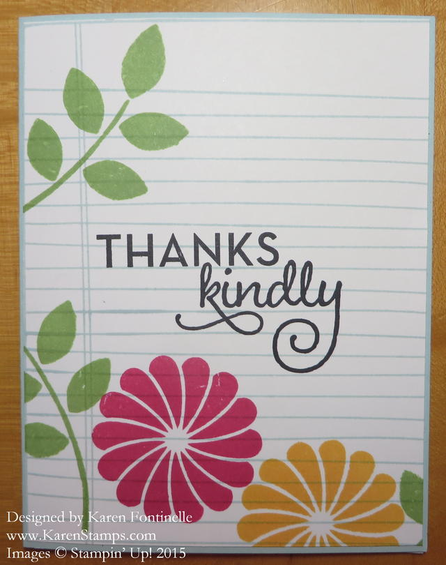Writing Notes Thank You card