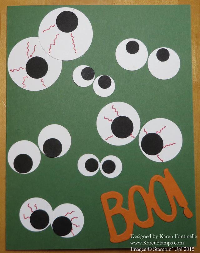 Easy Halloween Eyeball Card