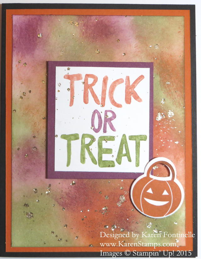 Howl-O-Ween Treat Halloween Trick or Treat Card