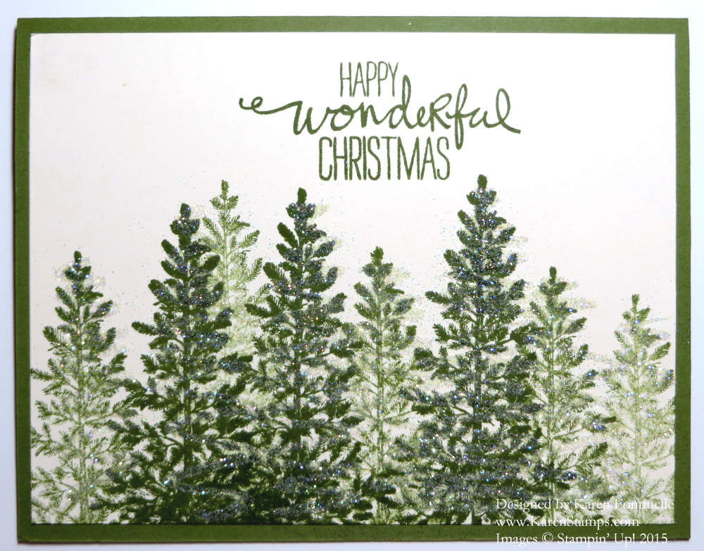 Lovely As a Tree Christmas Card | Stamping With Karen