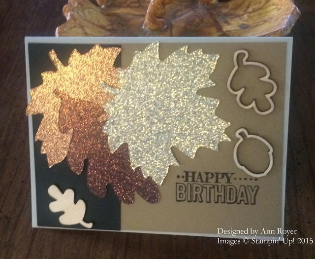 Masculine Birthday Card with Glimmer Leaves