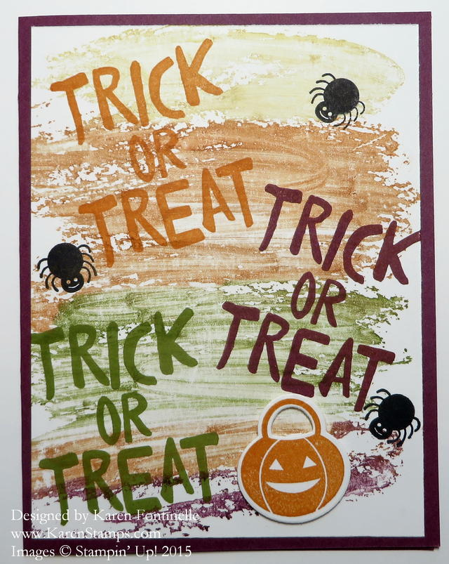Trick or Treat Watercolor Wash Halloween Card
