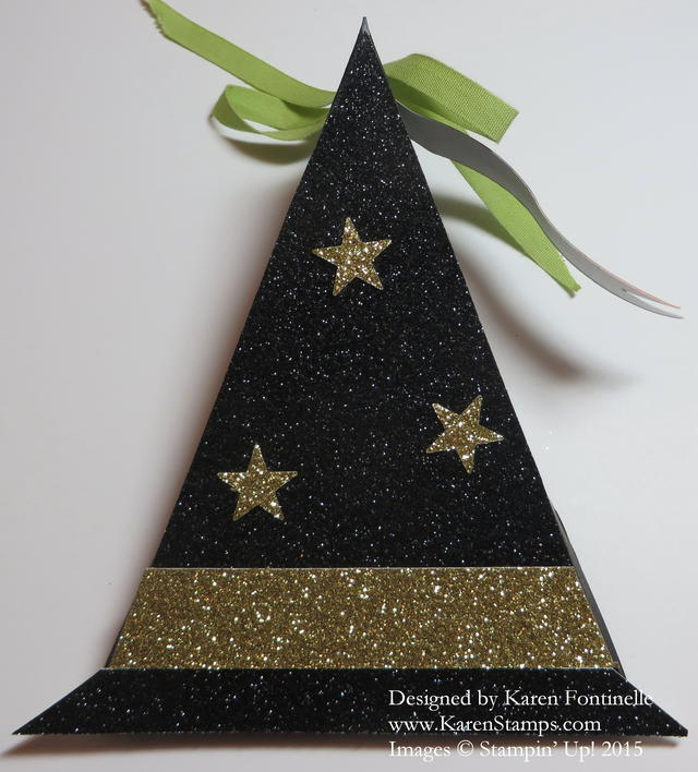 Witch's Hat Triangle Treat Box for Halloween