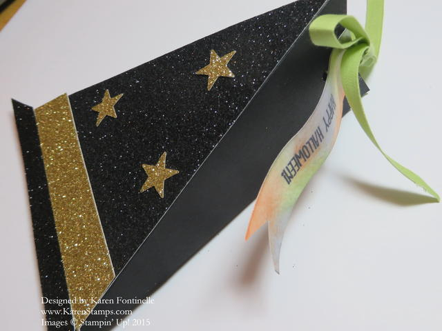 Witch's Hat Triangle Treat Box Greeting