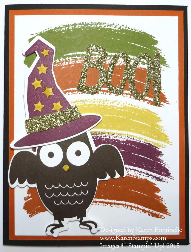 Work of Art Howl-o-Ween Treat Halloween Card